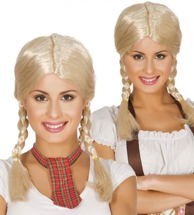 Blonde Plaited Wig