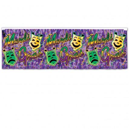 Mardi Gras Metallic Fringe Banner