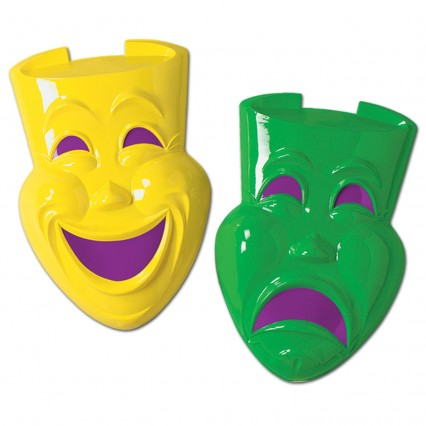"""Comedy Tragedy Plastic Faces 21"""""""