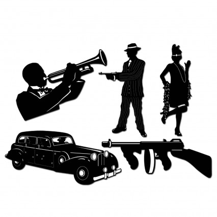 Gangsger Silhouette Cut Outs