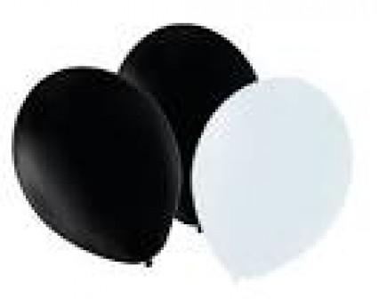 """12"""" Balloons - Black/White"""