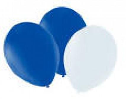"""12"""" Balloons - Blue/White"""