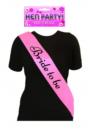 """Bride to Be"" Pink Sash"