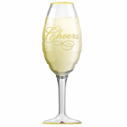 Champagne Glass Foil Balloon
