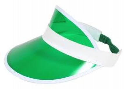 Green Plastic Dealers Visor