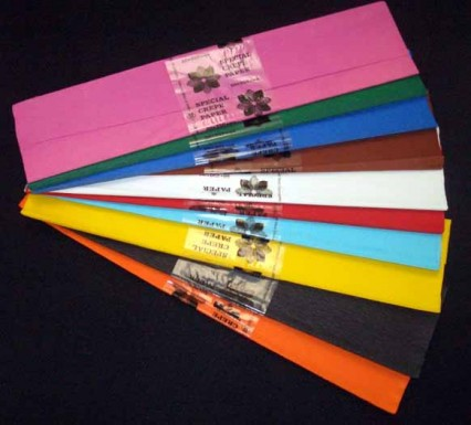Deluxe Crepe Paper - various colours