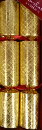 """Deluxe Catering Crackers 12"""" Gold Plaid"""