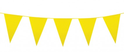 Giant Pennant Bunting - Yellow