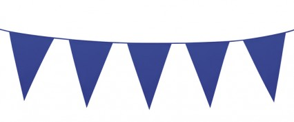 Giant Pennant Bunting - Blue
