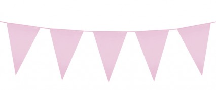 Giant Pennant Bunting - Pink