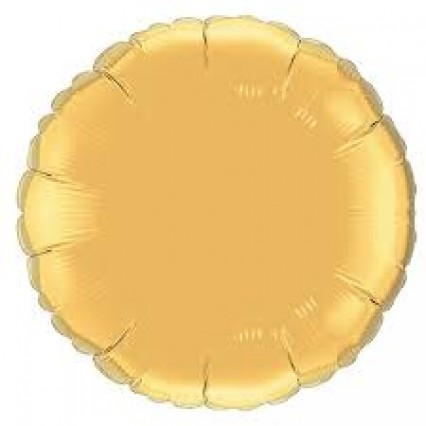 """18"""" Round Foil Balloons - Gold"""