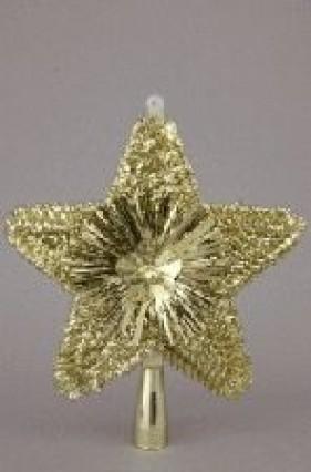 """Glitter Tree Top Star - Gold 8"""""""