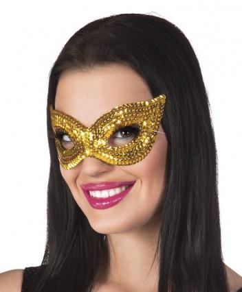 Sequin Eye Masks - Gold