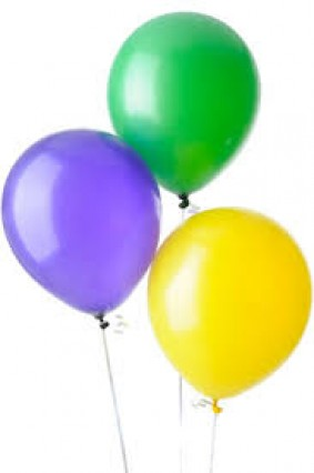 "12"" Balloons - Green/Yellow/Purple"