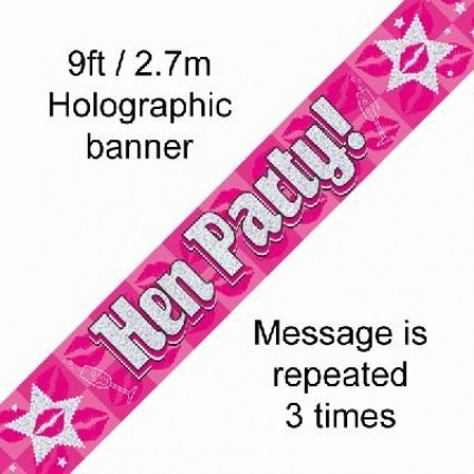 Hen Party Foil Banners