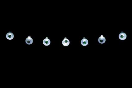 String of 12 LED Eyeball Lights
