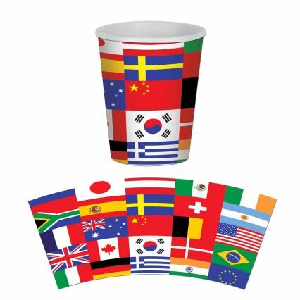International Flag Cups