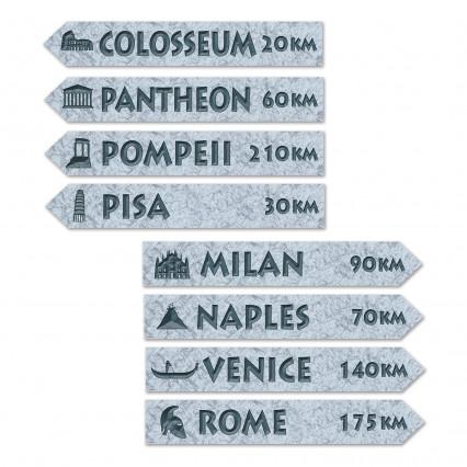 Italian Street Sign Cut Outs