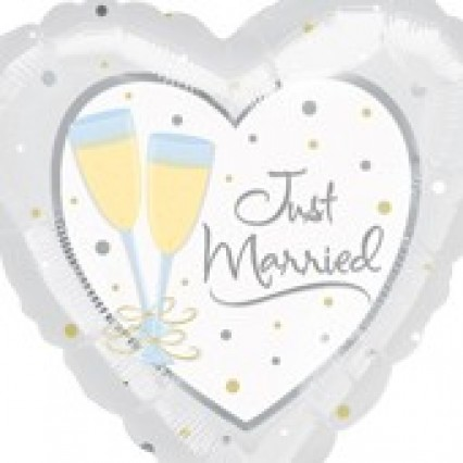 """18"""" Foil Balloon Just Married"""