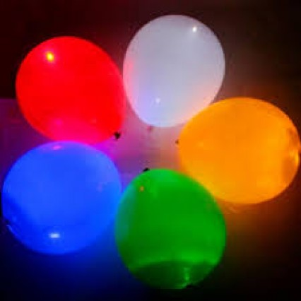 "9"" LED Light Up Balloons"