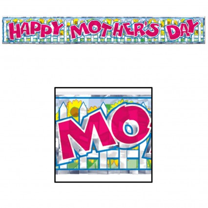 Mothers Day Metallic Fringe Banner