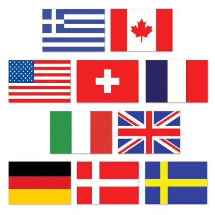Mini International Flag Cut Outs