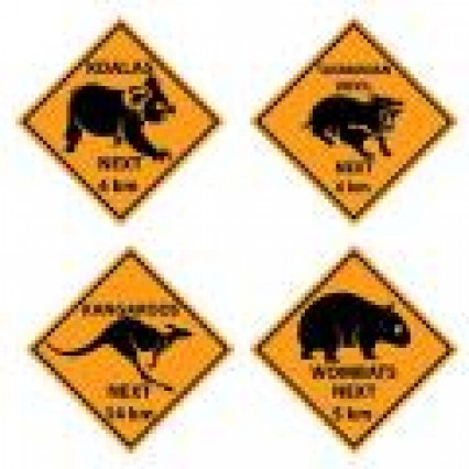 Outback Road Sign Cut Outs