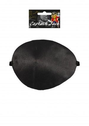 Black Satin Pirate Eye Patch