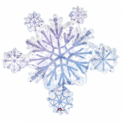 Prismatic Snowflake Foil Balloon
