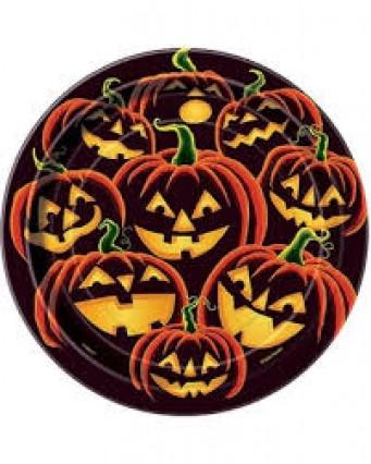 Pumpkin Grin Plates