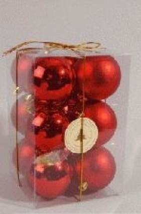 60mm Tree Baubles - pk12