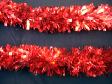 Luxury Tinsel Garland - Red