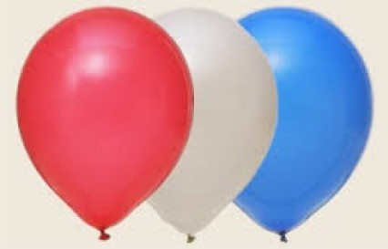"""12"""" Balloons - Red/White/Blue"""