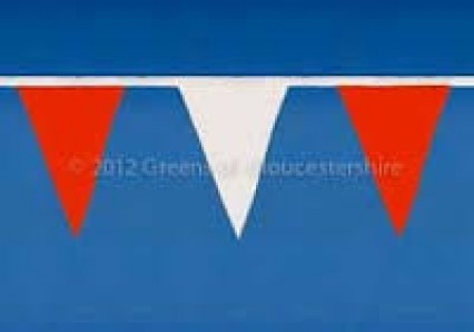 Pennant Bunting -10m - Red White