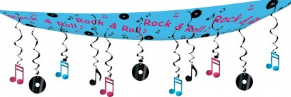 Rock 'n' Roll Ceiling Decoration