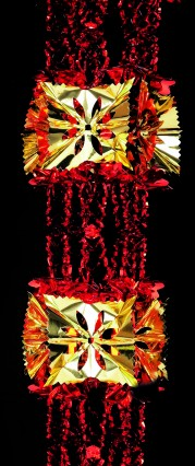Rosette Garland - Gold/Red