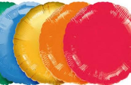 "18"" Round Foil Balloons - Asstd Colours"