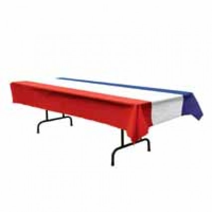 Plastic Tablecover - Patriotic Red/White/Blue