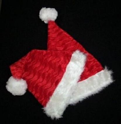 Plush Santa Hat with Fur Trim