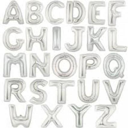 """40"""" Silver Foil Letters"""