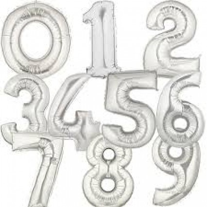 """40"""" Silver Foil Numbers"""