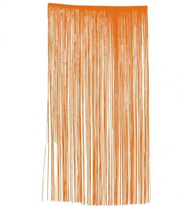 Slashed Curtain - Plastic -  Orange