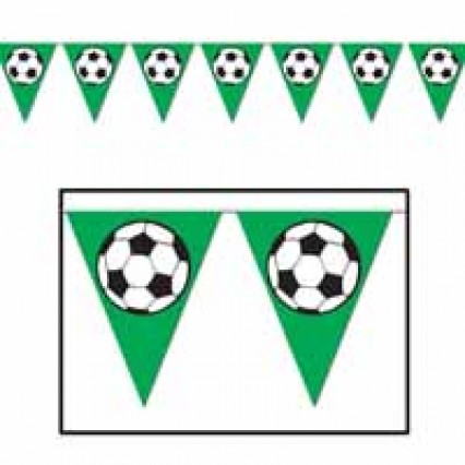 Soccer Ball Pennant Banner 12ft