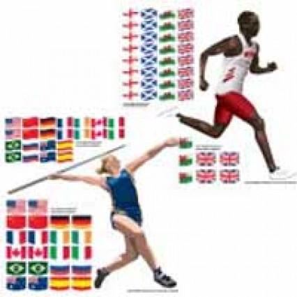 Scene Setter Add On - Stadium Athletes & Flags