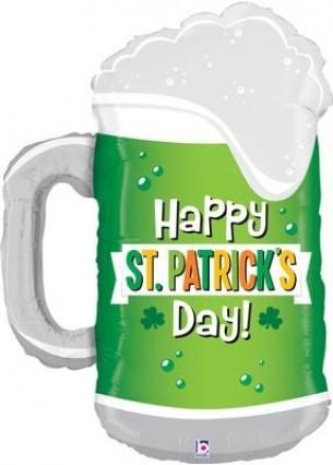 St Patrick's Beer Mug Foil Balloon