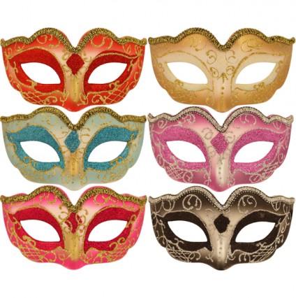Venetian Style Glitter Masks
