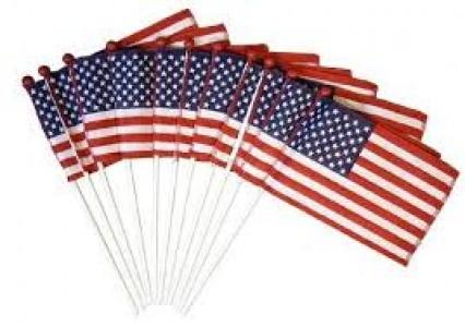 Hand Held Flags - USA