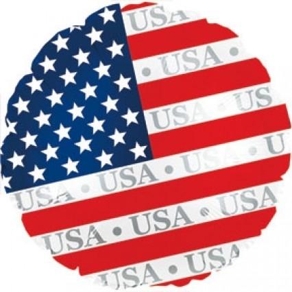 """USA Print 17"""" Round Foil Balloons"""