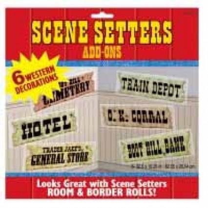 Scene Setter Add On - Western Signs
