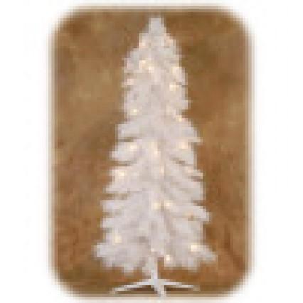 "White Pre Lit Tree with 200 LED lights 60""/150cm"